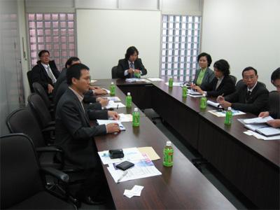 農業会議所でのミーティング