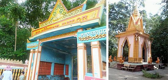 コウモリ寺の入り口&お寺の建築の一つ